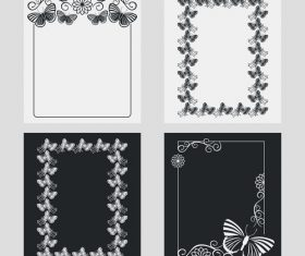 Lace vertical frames vector