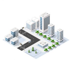 Left turn and city module vector