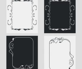 Line black and white frame vector