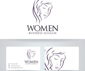 Logo women vector