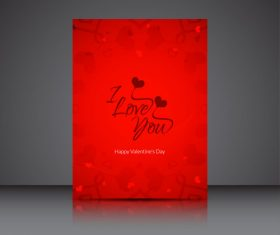 Love expression heart shaped brochure cover vector