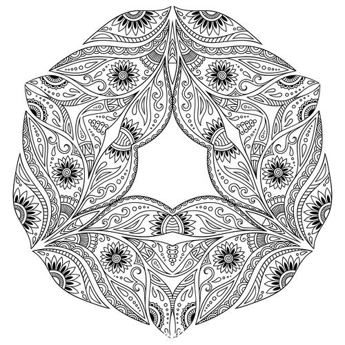 Magical mandala vector
