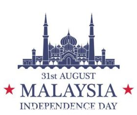 Malaysia Independence day vector