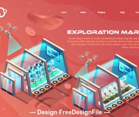 Mars farming concept illustration vector