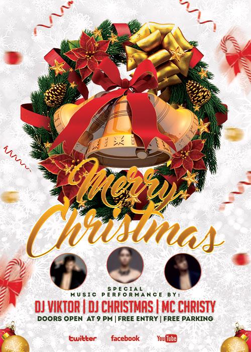 Merry Christmas Psd Flyer Template