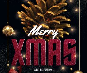 Merry Xmas Music Night Psd Flyer Template