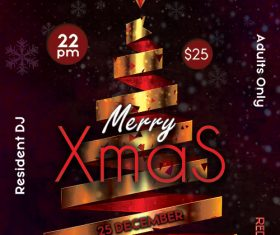 Merry Xmas Party Poster and Flyer Psd Template