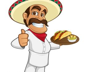 Mexican cook vector