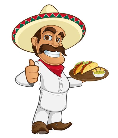 Mexican cook vector