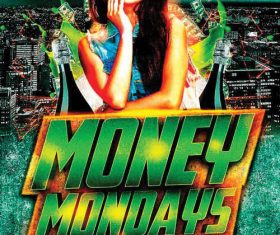 Money Mondays Party Flyer PSD Template