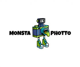 Monsta photo sport logo vector
