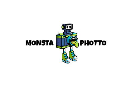 Monsta photo sport logo vector