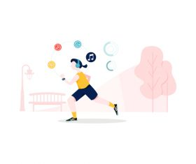 Motion monitoring illustration vector