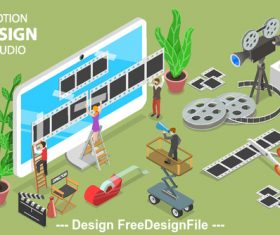 Movie production concept illustration vector