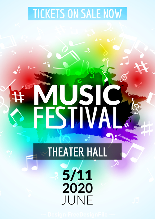 Music festival flyer vector