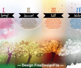 Natural scenery booklet vector