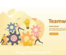 Need teamwork cartoon illustration vector