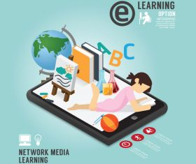 Network media learning vector