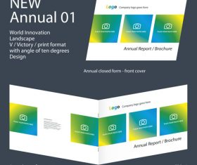 New Annual 01 Brochure Innovation design layout vector
