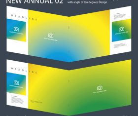 New Annual 02 Brochure Innovation design layout vector