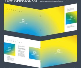 New Annual 03 Brochure Innovation design layout vector