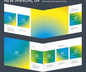 New Annual 04 Brochure Innovation design layout vector