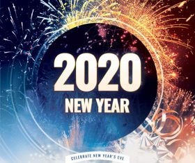 New Year 2020 Psd Flyer Template
