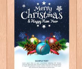 New year christmas card vector