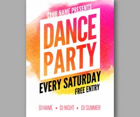 Night dance party poster vector