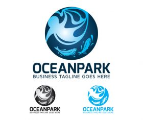 Ocean park logo vector