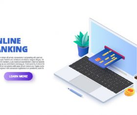 Online banking concept illustration vector