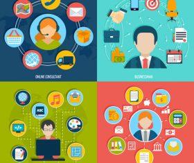 Online consultant professions illustration vector