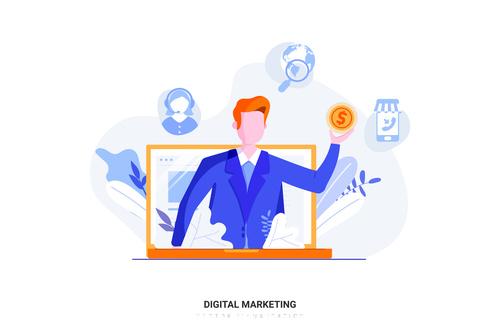 online digital marketing vector free download online digital marketing vector free