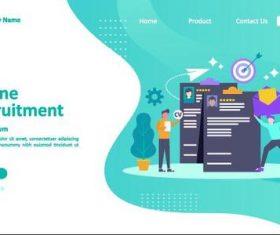 Online recruitment concept illustration vector