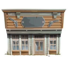 Ordnance store building vector