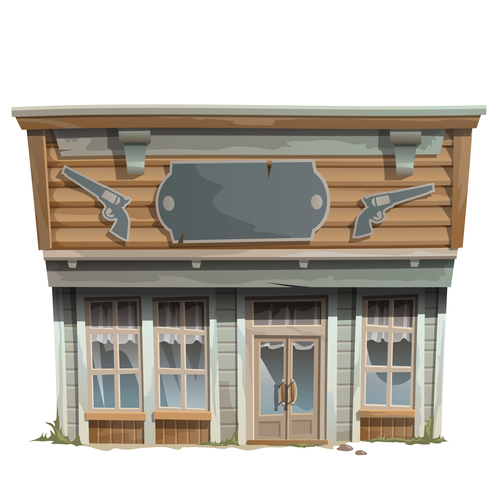 Ordnance store building vector