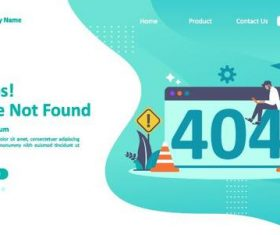 Page not found concept illustration vector