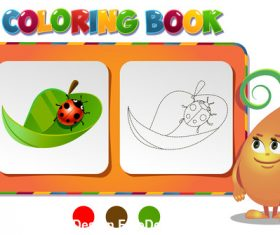 Paint the ladybird coloring book vector