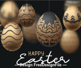 Painted easter egg illustration vector