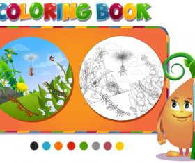 Painting ant coloring book vector