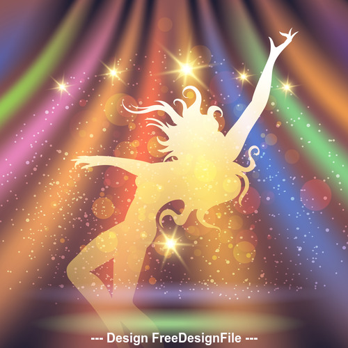 Party Background silhouette vector