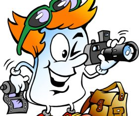 Photographer cartoon vector