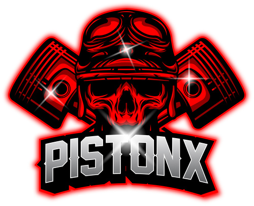 Piston mascot esport logo vector