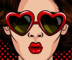 Pop art vintage style woman vector