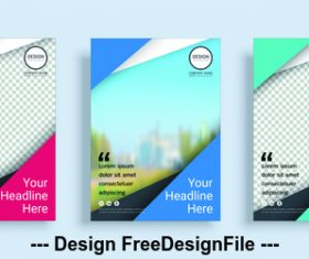 Poster cover design template vector