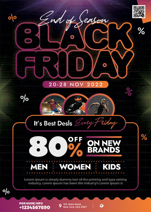 Premium Black Friday Sale Poster Psd Template