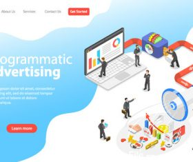 Programmatic advertising concept illustration vector