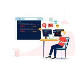 Programmer illustration vector