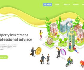 Property investment concept illustration vector