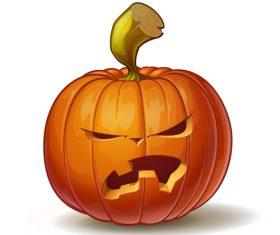 Pumpkins angry vector